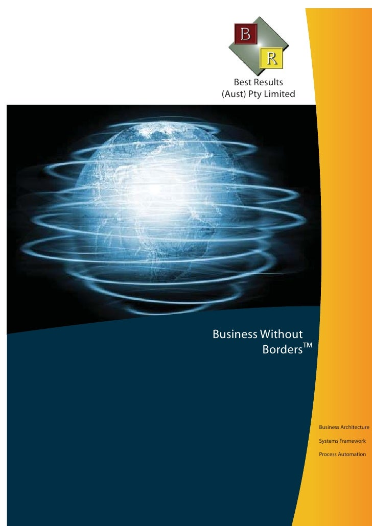 Best Results  (Aust) Pty Limited     Business Without          Borders™                           Business Architecture   ...