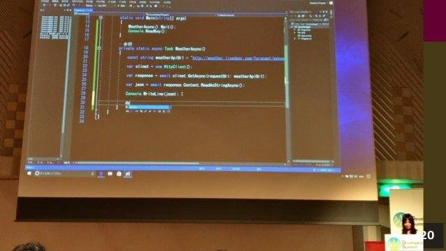 """DevRel"" (Developer Relations)職。 • 開発者 (Developer) や学生の皆様とのコミュニケーション • 開発者の皆様が楽しく開発できるように • マイクロソフトとして支援する職業。 • 具体的には:登壇、勉..."