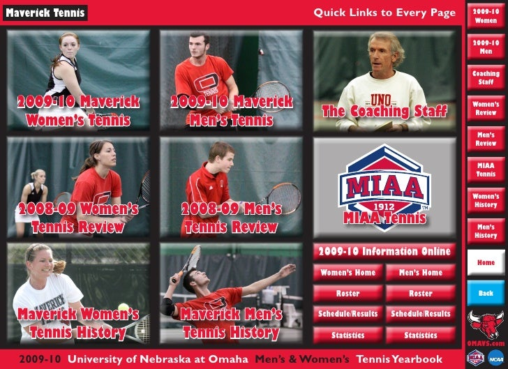 Maverick Tennis                                    Quick Links to Every Page               2009-10                        ...