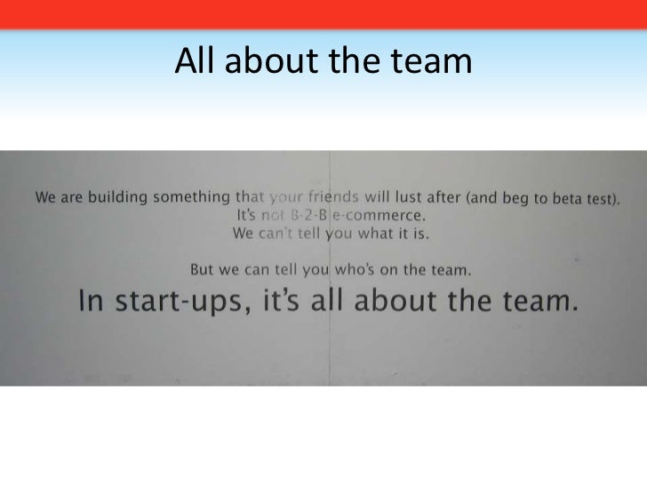 All about the team<br />