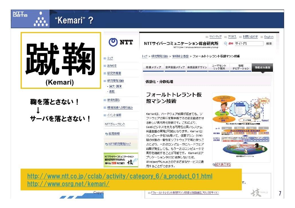 """""""Kemari"""" ?     蹴鞠    (Kemari)  鞠を落とさない!  ↓ サーバを落とさない!     http://www.ntt.co.jp/cclab/activity/category_6/a_product_01.html..."""