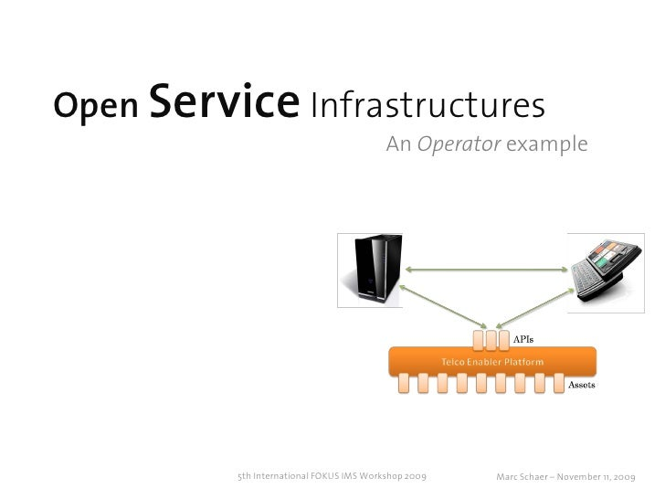 Open Service Infrastructures                                           An Operator example               5th International...