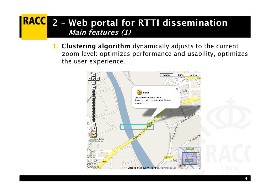 Real Time Internet Traffic Map.A Google Maps Based Approach To Real Time Traffic And Travel Informat