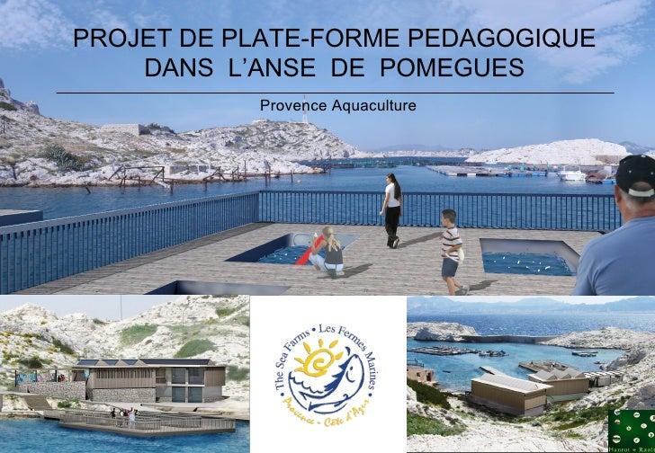 Provence Aquaculture PROJET DE PLATE-FORME PEDAGOGIQUE DANS  L'ANSE  DE  POMEGUES