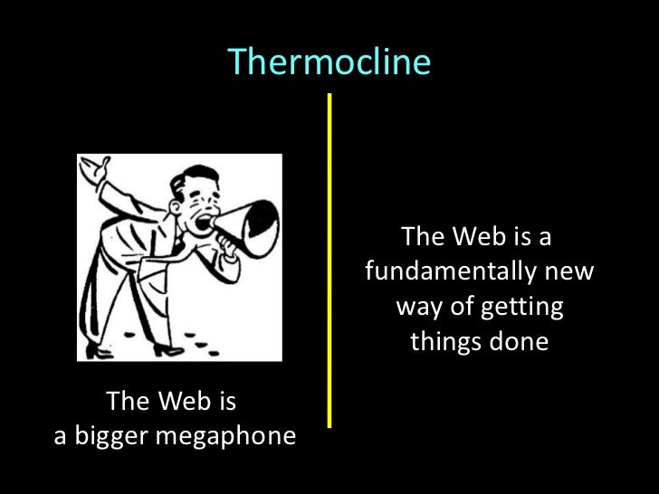 Thermocline(a metaphor)<br />(Remember—most people are not at either extreme, but in the middle…)<br />