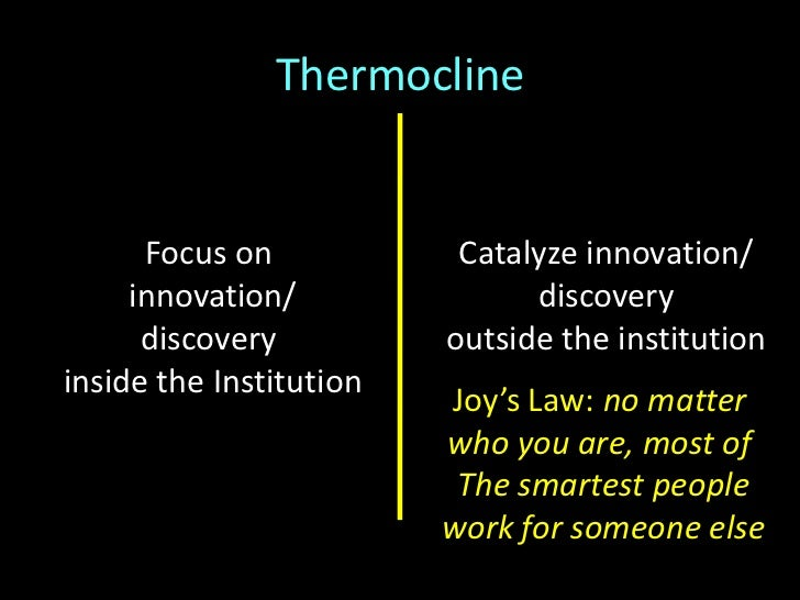 """Thermocline<br />""""we are living in the middle of a remarkable increase in our ability to share, to cooperate with one anot..."""