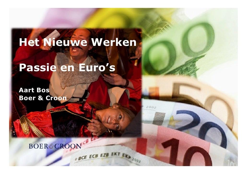 Het Nieuwe Werken  Passie en Euro's  Aart Bos Boer & Croon