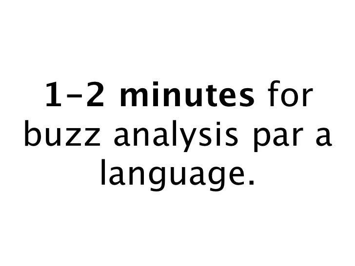1-2 minutes forbuzz analysis par a    language.