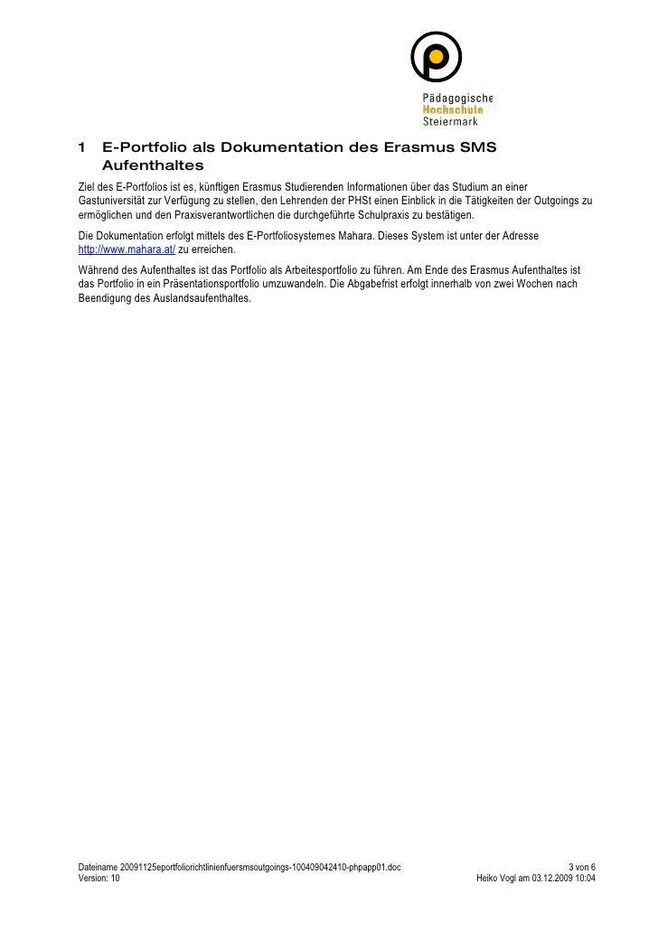 20091125 E Portfolio Richtlinien Fuer Sms Outgoings Slide 3