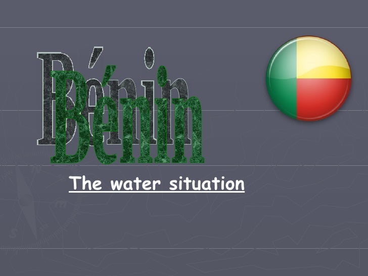Bénin The water situation