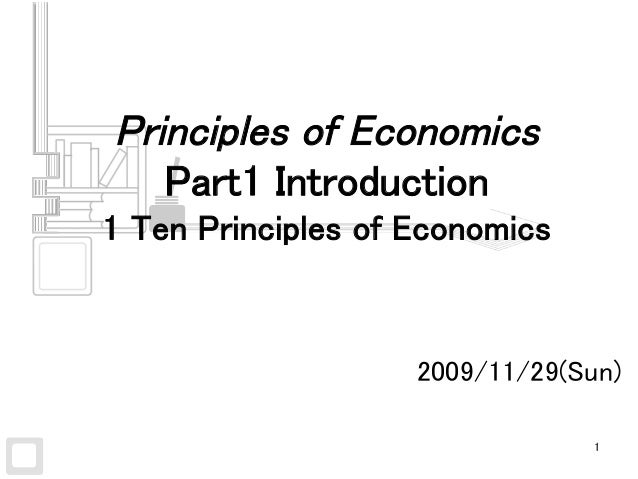 20091128 mankiw economics chapter1