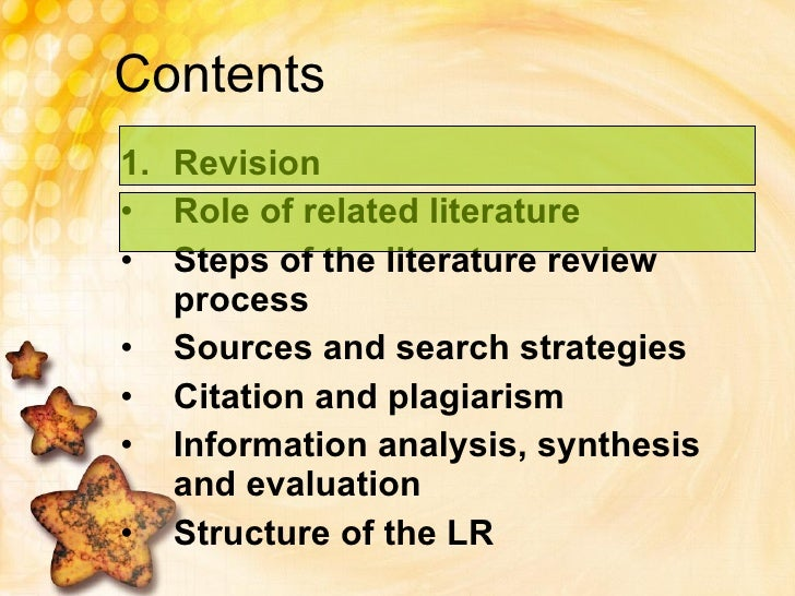 the literature review process recommendations for researchers The international journal of educational research publishes research  and recommendations for  author team and handling the peer review process.