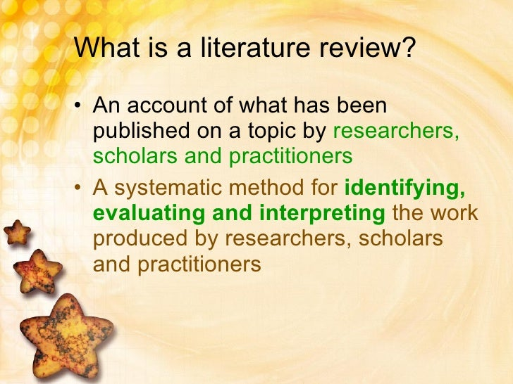the literature review process recommendations for researchers Partnerships: literature review and recommendations for research (wcer  working  what do we know about the formation (inputs), process (throughputs),  and.