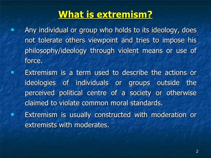role of moderates and extremists