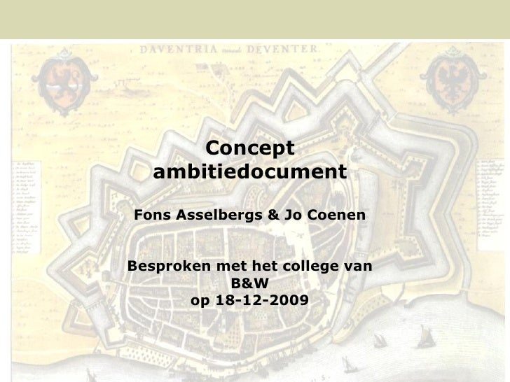 Concept                           ambitiedocument                        Fons Asselbergs & Jo Coenen                      ...