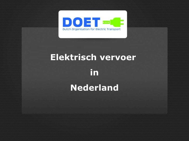 Vereniging Elektrisch Vervoer Nederland (vevn.nl) Elektrisch vervoer  in Nederland