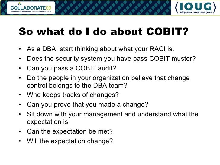 Oracle DBA Meets ITIL and COBIT