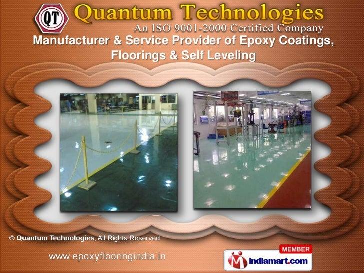 Manufacturer & Service Provider of Epoxy Coatings,            Floorings & Self Leveling
