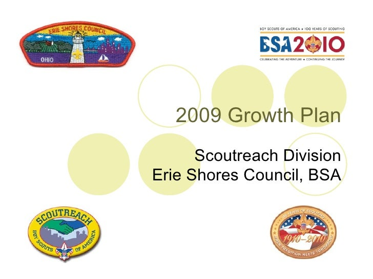 2009 Growth Plan Scoutreach Division Erie Shores Council, BSA