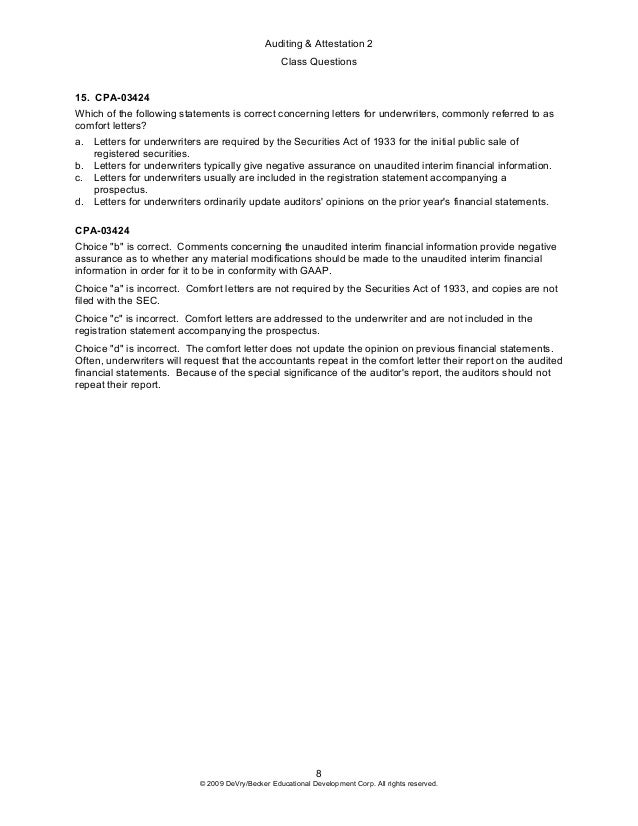 2009 a 2 class questions preview