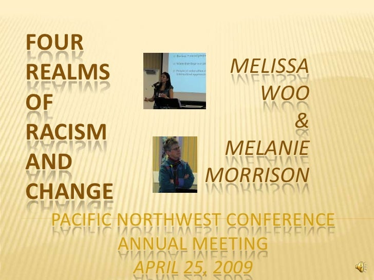 FOUR                  MELISSA REALMS                     WOO OF                        & RACISM                  MELANIE A...