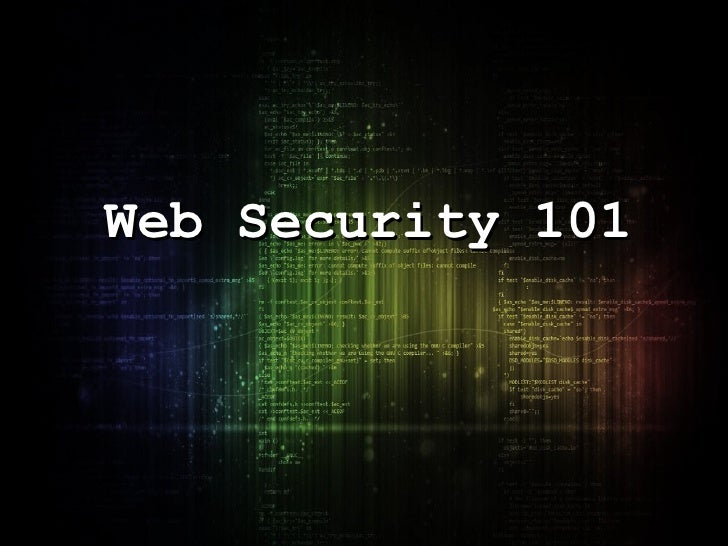 Web Security 101