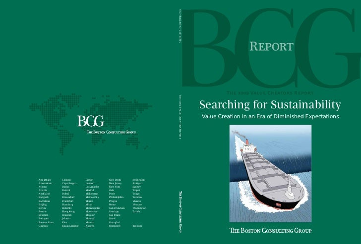 R            T  V C R  Searching for Sustainability Value Creation in an Era of Diminished Expe...