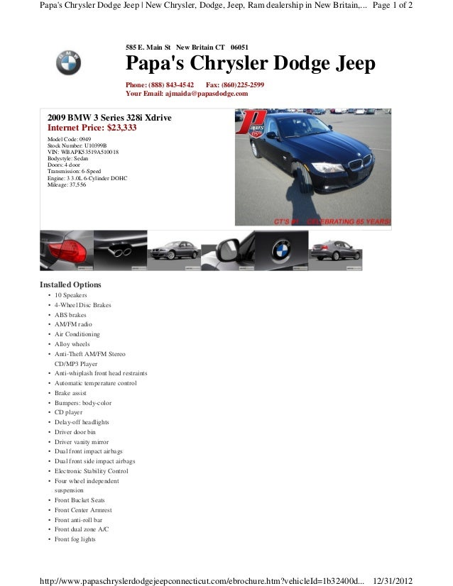 Papas Chrysler Dodge Jeep | New Chrysler, Dodge, Jeep, Ram dealership in New Britain,... Page 1 of 2                      ...