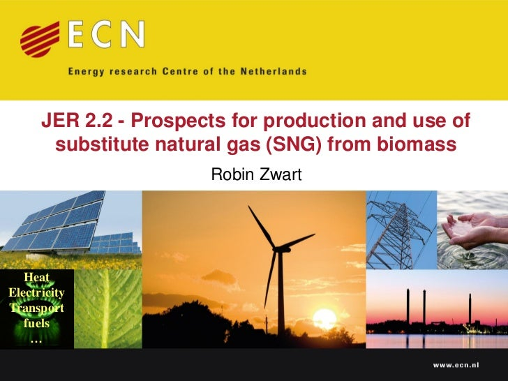 JER 2.2 - Prospects for production and use of       substitute natural gas (SNG) from biomass                       Robin ...