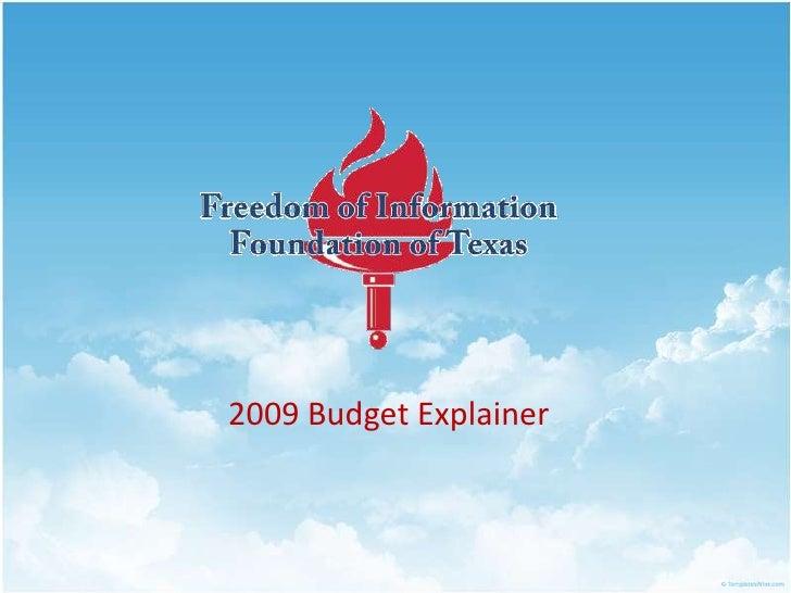 2009 Budget Explainer<br />