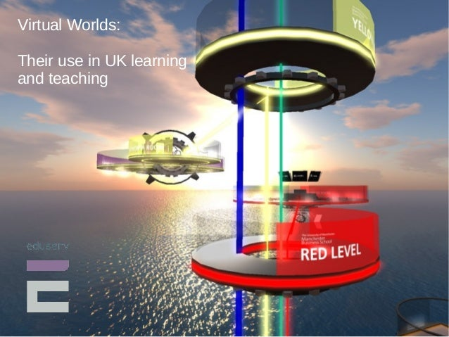 Virtual Worlds:  Their use in UK learning  and teaching