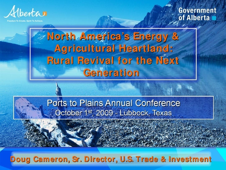 North America's Energy &           Agricultural Heartland:          Rural Revival for the Next                 Generation ...