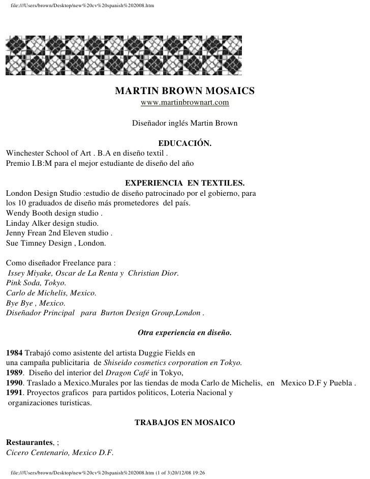 file:///Users/brown/Desktop/new%20english%20cv2008.htm   Restaurants, ; Cicero Centenario,Mexico City. Ixchel, Mexico City...