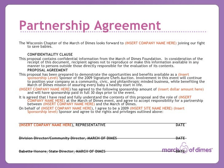 2009 Chefs Auction Sponsorship Template