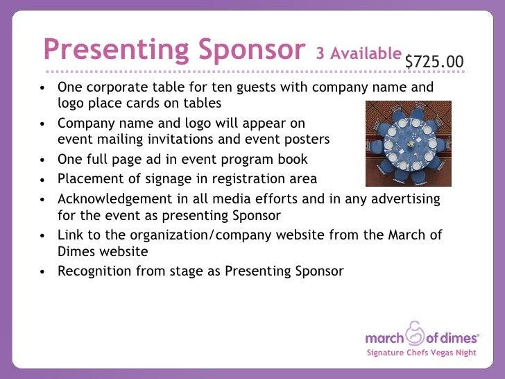 sponsor levels template