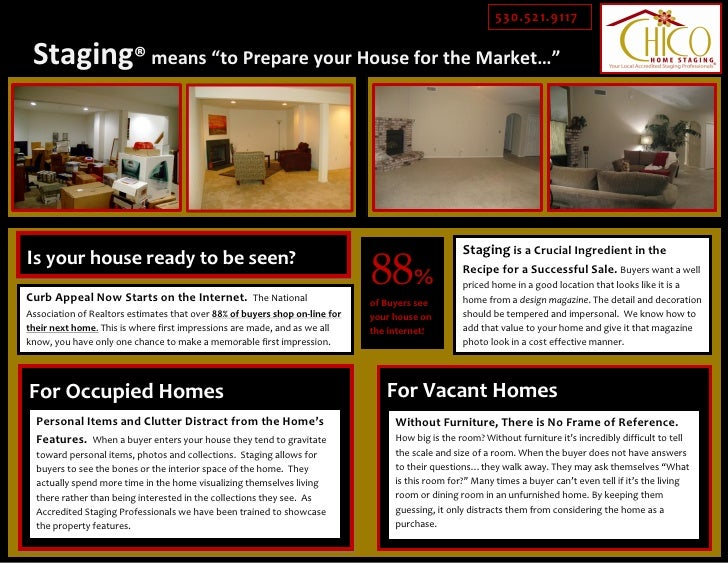 """530.521.9117   Staging® means """"to Prepare your House for the Market…""""                                                     ..."""