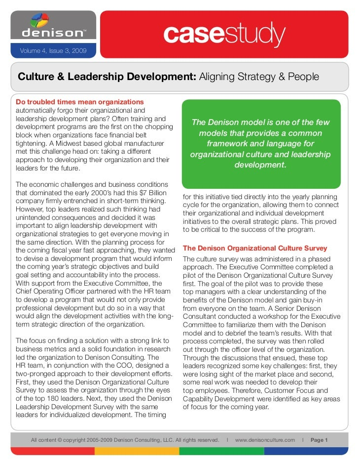 Volume 4, Issue 3, 2009                                                             casestudy Culture & Leadership Develop...