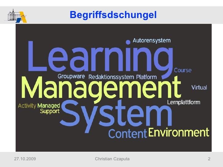 2009 Czaputa Didaktische Reflexionen Zum Einsatz Von Lernplattformen Slide 2