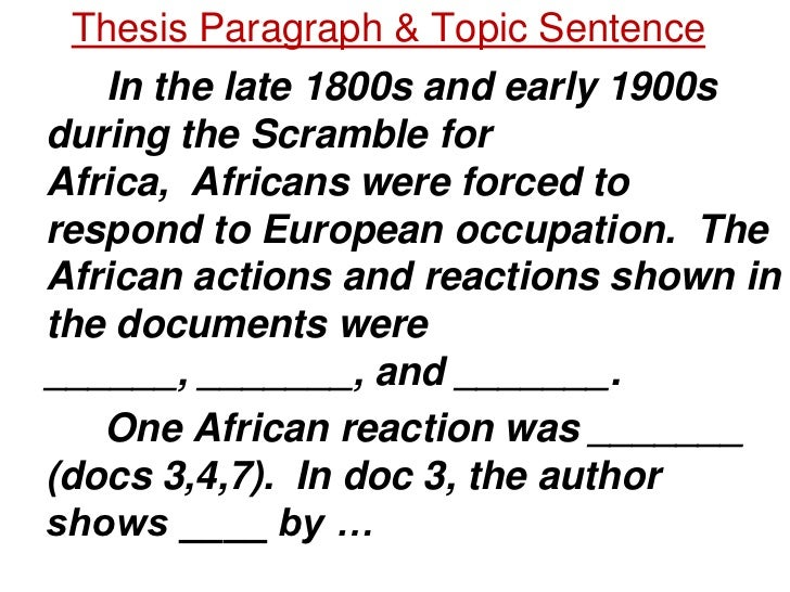 dbq on african reactions to the •primary purpose of dbq is not to test students' prior  using the documents, analyze the main features,  african actions and reactions in.