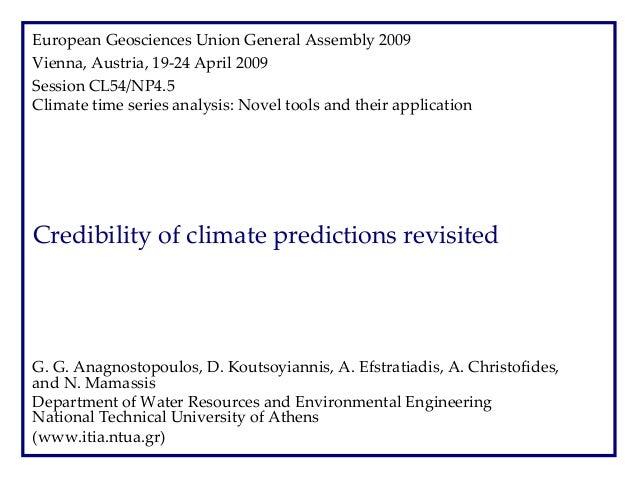 EuropeanGeosciencesUnionGeneralAssembly2009 Vienna,Austria,19‐24April2009 SessionCL54/NP4.5 Climatetimeseries...