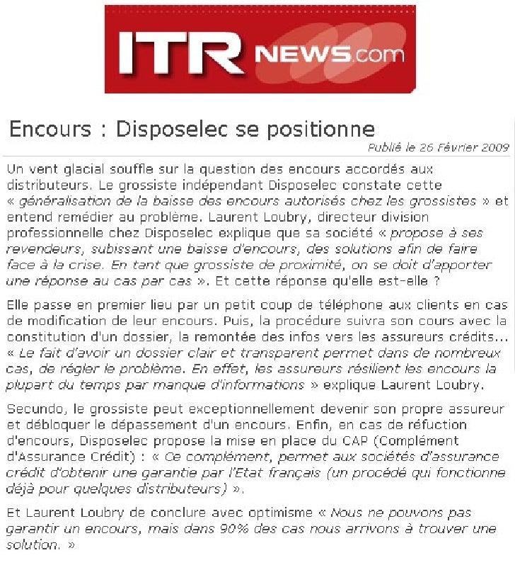 Enquête - 24/02/2009   Alerte sur les encours ! La datation du sinistre est désormais connue : il a débuté début février a...