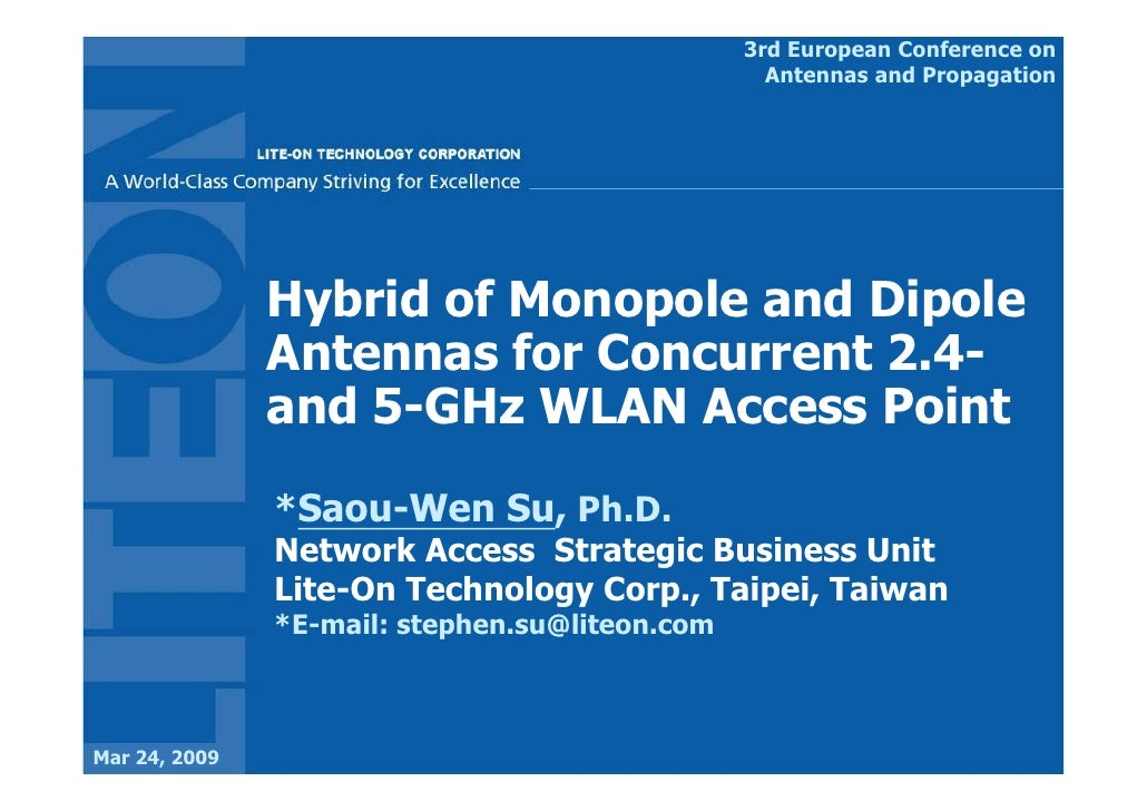 3rd European Conference on                                                   Antennas and Propagation                    H...