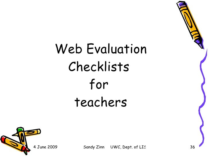 Evaluating Websites For Learners