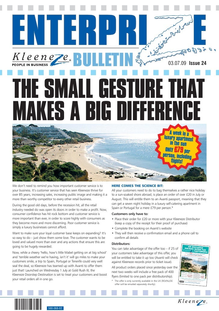 BULLETIN                                                                            03.07.09 Issue 24     THE SMALL GESTUR...
