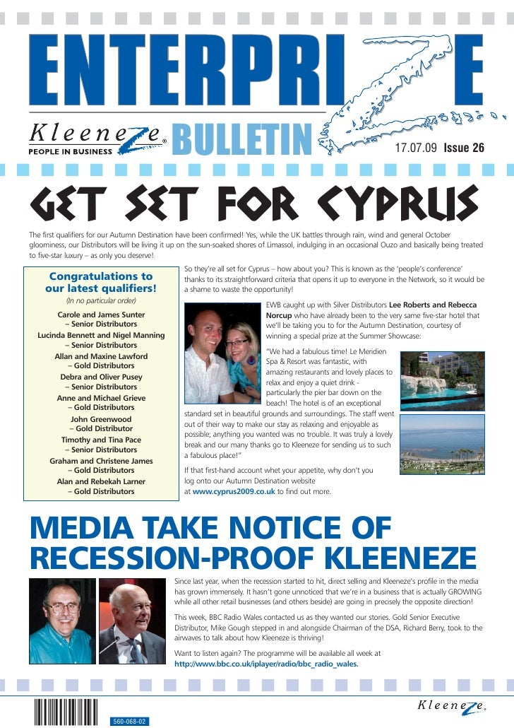 BULLETIN                                                                  17.07.09 Issue 26     GET SET FOR CYPRUS The fir...