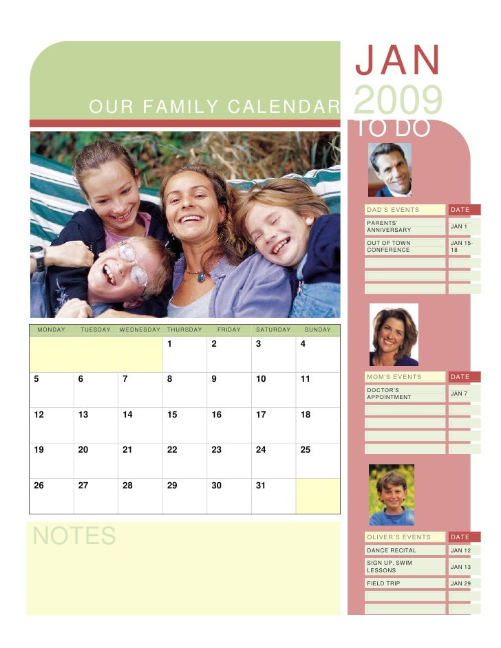 Family Calendar Sharing : Family calendar