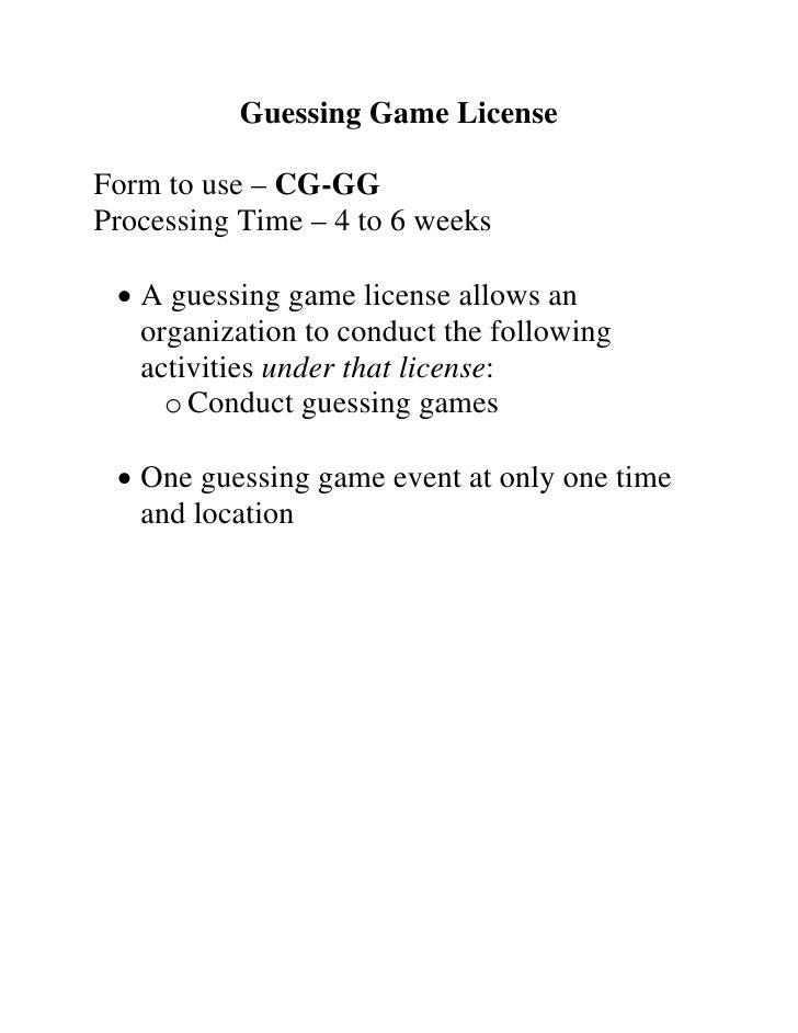 Indiana 2009 Gaming Seminar Packet
