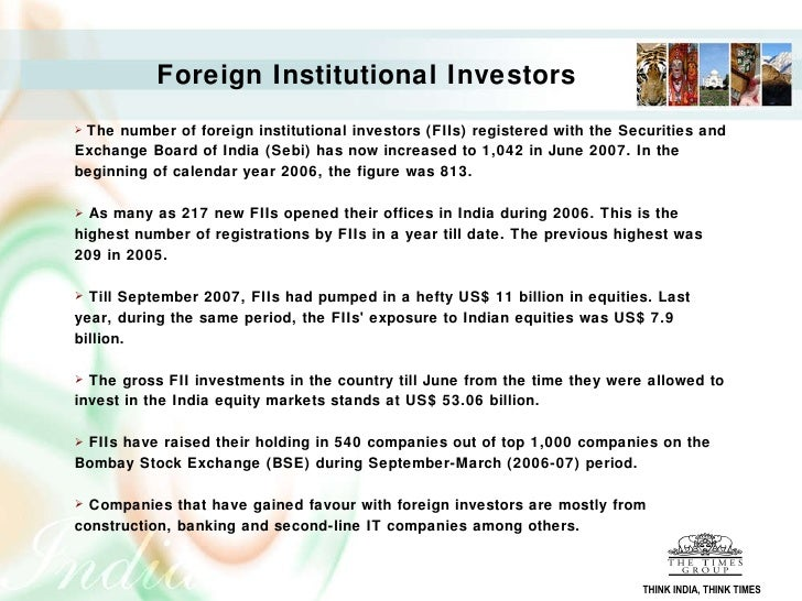 impact of fiis on indian stock market for a period of 2006 2009 1 ict sector statistics in india – current status 1 introduction 11 information and communication technology can be broadly viewed under.