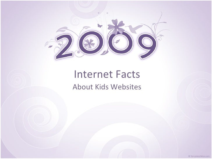 Internet Facts About Kids Websites