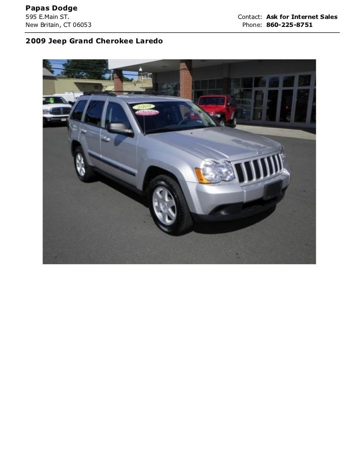 Papas Dodge595 E.Main ST.                    Contact: Ask for Internet SalesNew Britain, CT 06053              Phone: 860-...